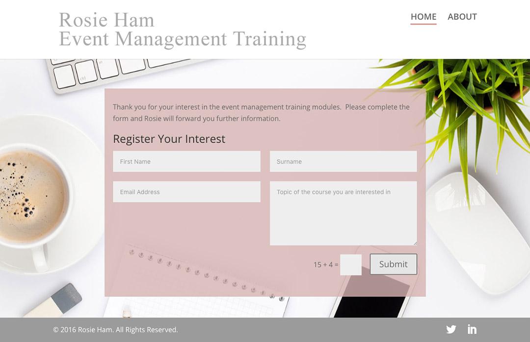 Rosie Ham Event Management Training