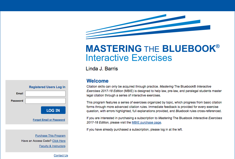 Mastering the Bluebook Interactive Exercises