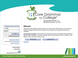 Core Grammar for College